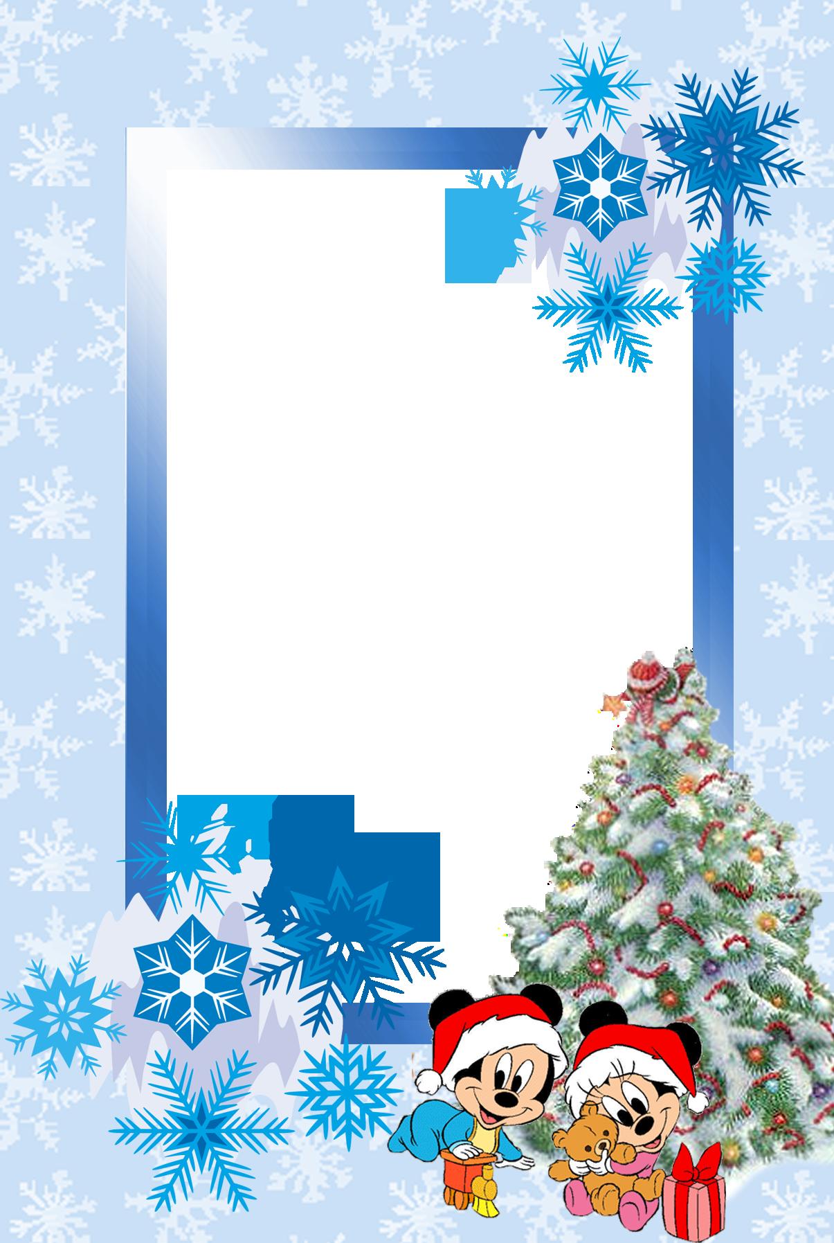 Веселый Дед Мороз спешит раздавать подарки! новогодняя рамка для двух