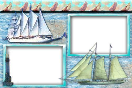 шаблон для презентации с корабликом